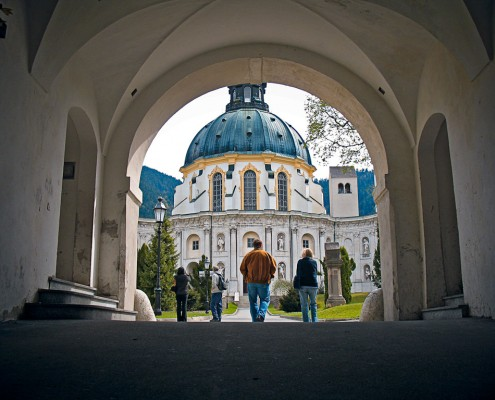 Der Eingang zu Kloster Ettal
