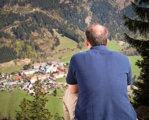 Blick vom Ettaler Mandl auf das Kloster