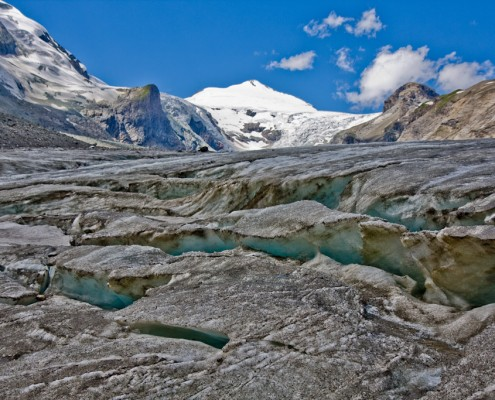 Die Pasterze - der gewaltige Gletscher unterhalb des Großglockners